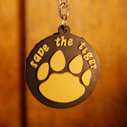 Tiger Pugmark Rubber Key Chain