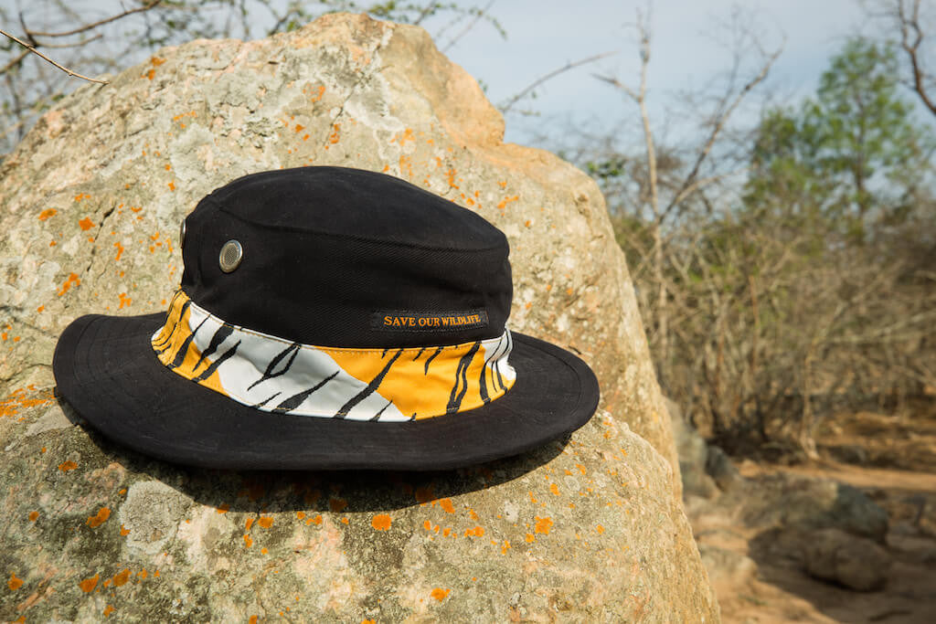 Save-Our-Wildlife Hats - Black Tiger stripes