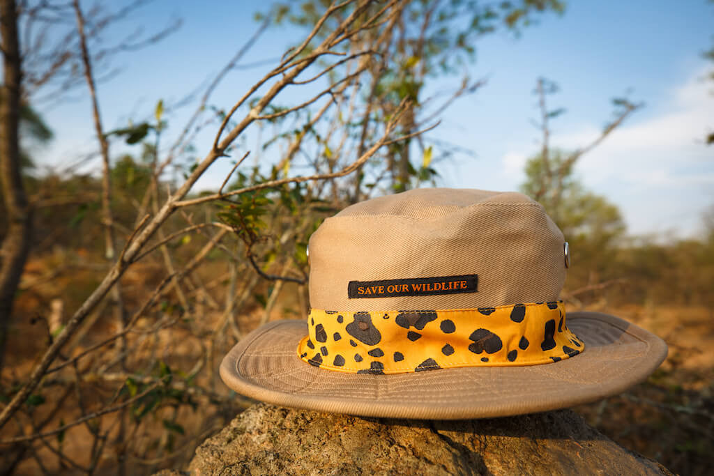 Save-Our-Wildlife Hats - Beige Leopard
