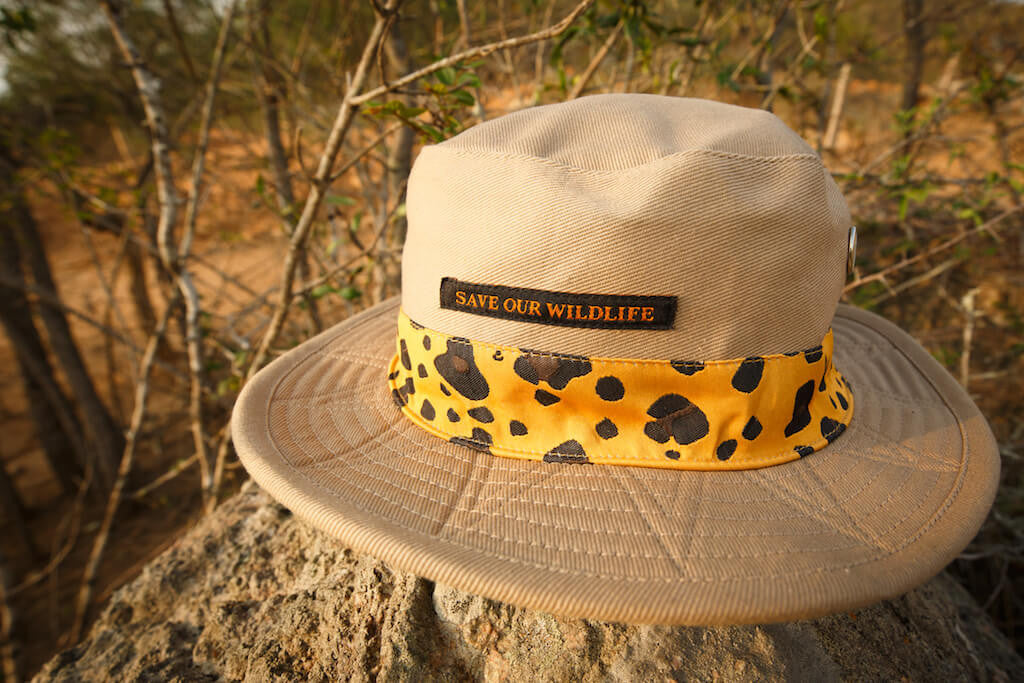 Save-Our-Wildlife Hats - Beige Tiger stripes