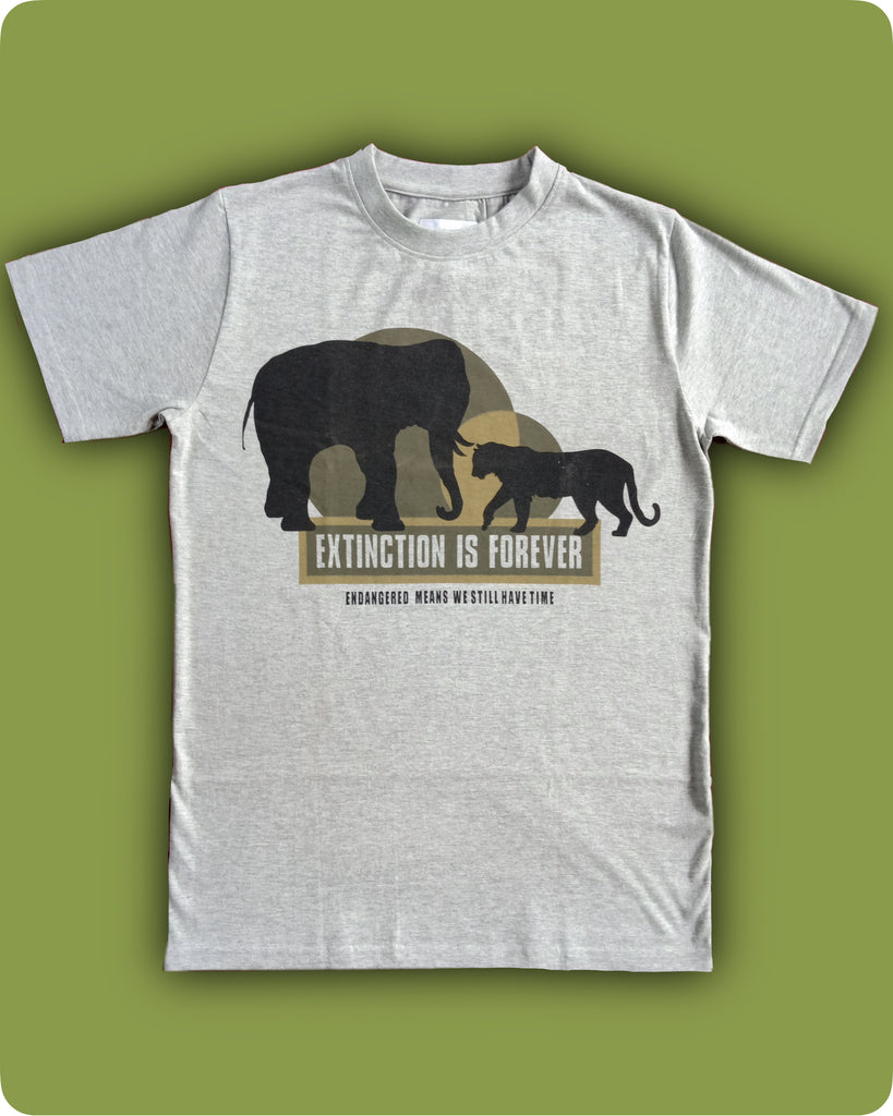 Grey melange Extinction printed T-Shirt - Adults