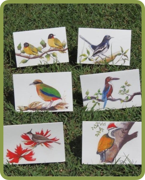 Greeting cards - Birds drawing