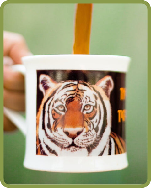 Bone China Coffee Mug - Tiger Big