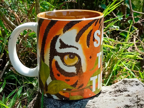 Stoneware Coffee Mug - Tiger