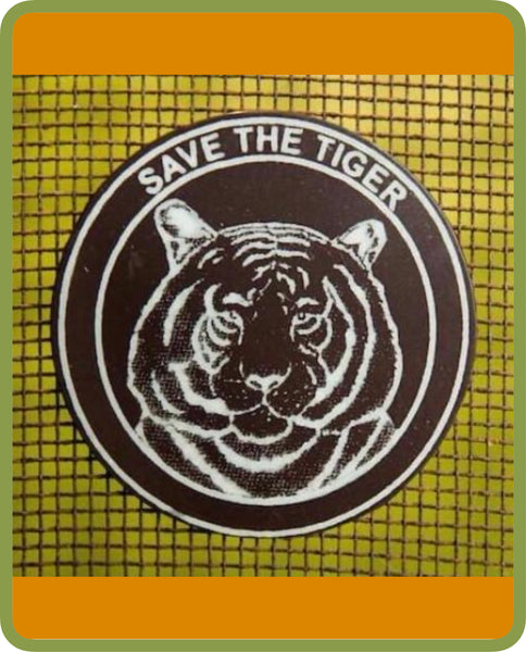 Fridge Magnets - round tiger