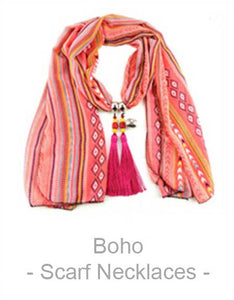Boho Scarf Necklaces