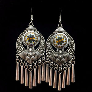 Tribal Long Tassel Earrings