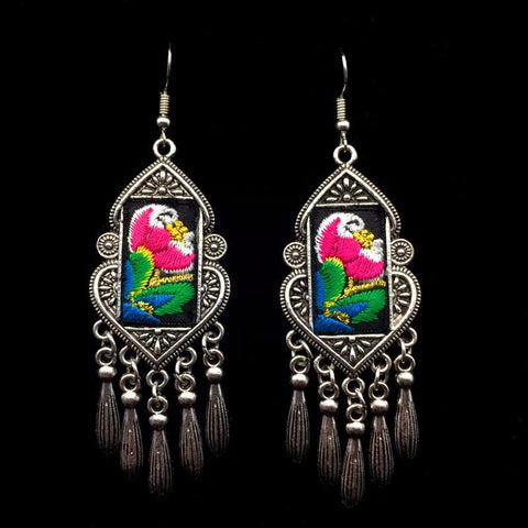 Bohemian Embroidery earrings