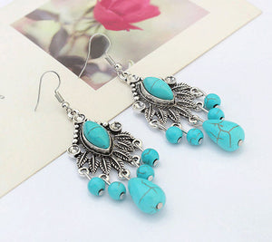 Antique bohemian drop earrings