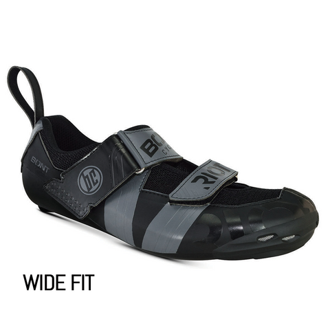 Bont Riot TR+ Tri Shoes Black/Charcoal Wide Fit