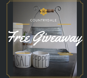 SALT & PEPPER CELLARS + TIN 2-TIER BASKET FREE GIVEAWAY CLOSED. CONGRATULATIONS TO THE WINNER!