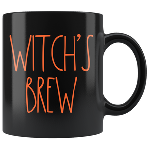 """WITCH'S BREW"" Farmhouse Large Letter Halloween Mug"