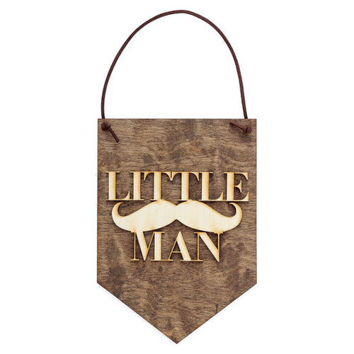 Little Man - Baby Boy Decor - Nursery Decor Sign - - Happy-Go-Cart