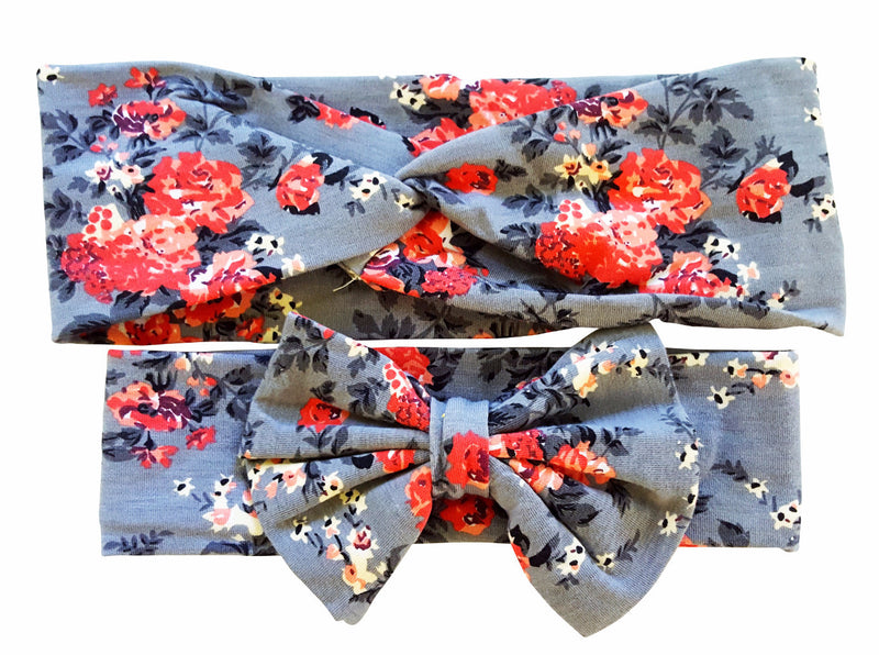 Floral Mommy & Me Bowknot Headbands - Happy-Go-Cart