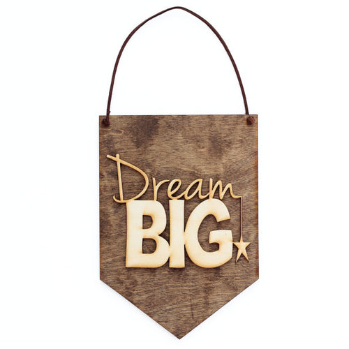 Dream Big - Baby Shower Gift - Nursery Decor - - Happy-Go-Cart