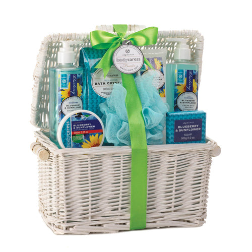 BLUEBERRY & SUNFLOWER SPA BASKET - Happy-Go-Cart