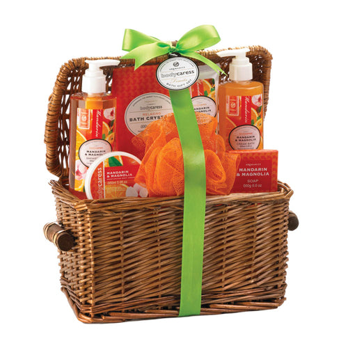 MANDARIN & MAGNOLIA SPA BASKET - Happy-Go-Cart