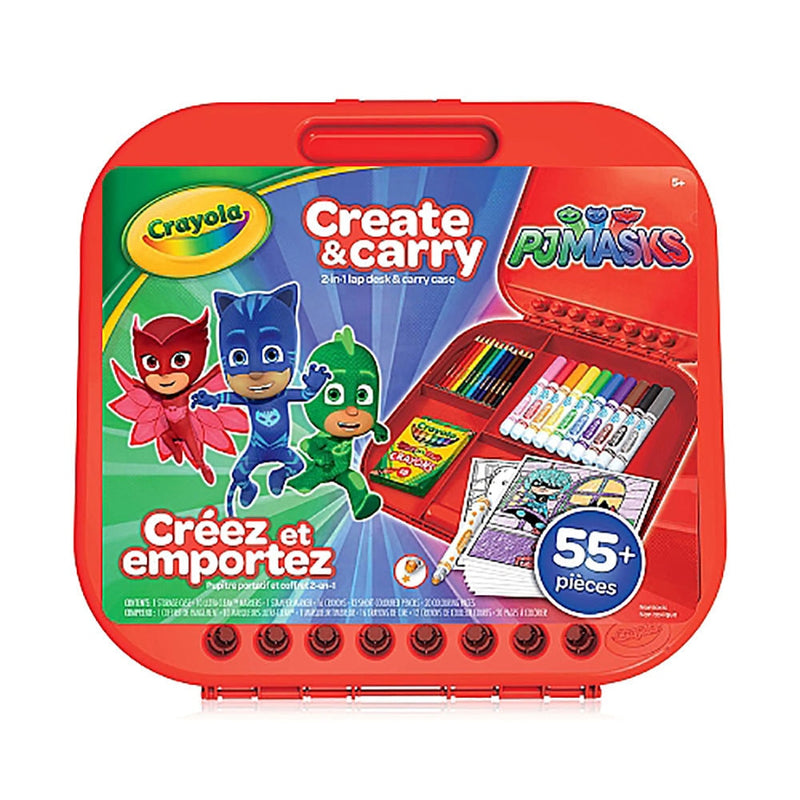 Crayola - PJ Masks Create and Carry Case - More than 55 Pieces - Happy-Go-Cart