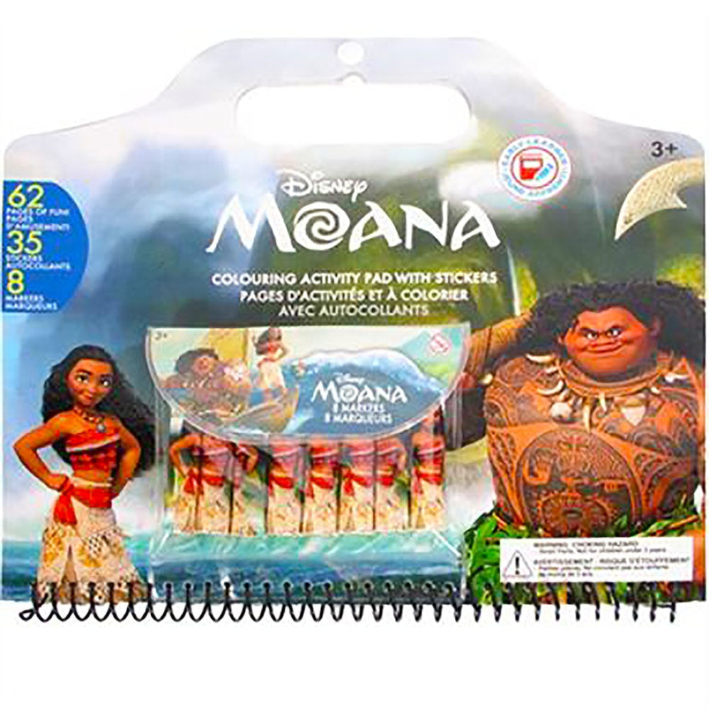 Disney Moana Coloring Activity Pad with Stickers - Happy-Go-Cart