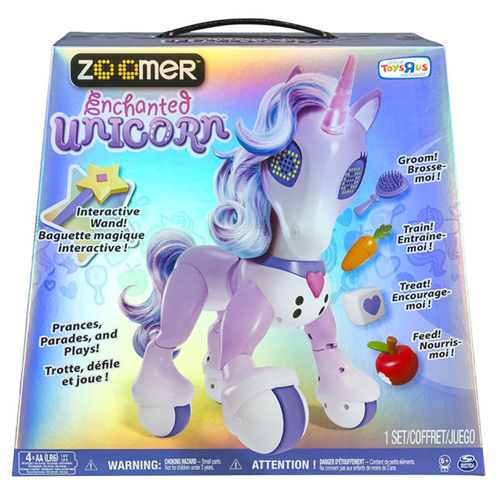 Zoomer Enchanted Unicorn Exclusive Interactive Toy - Happy-Go-Cart
