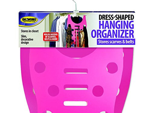 Dress Shaped Hanging Organizer Closet Scarves Belts Storage Space Saver Hang NEW - Happy-Go-Cart