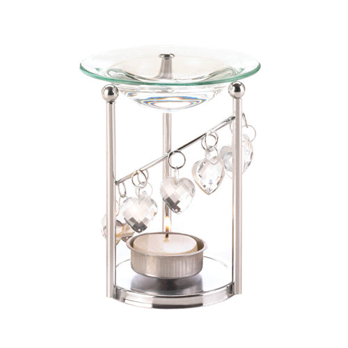 BEJEWELED HEARTS OIL WARMER - Happy-Go-Cart
