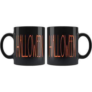 """HALLOWEEN"" Farmhouse Large Letter Halloween Mug"