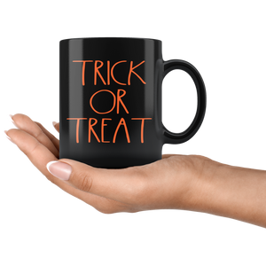 """TRICK OR TREAT"" Farmhouse Large Letter Halloween Mug"