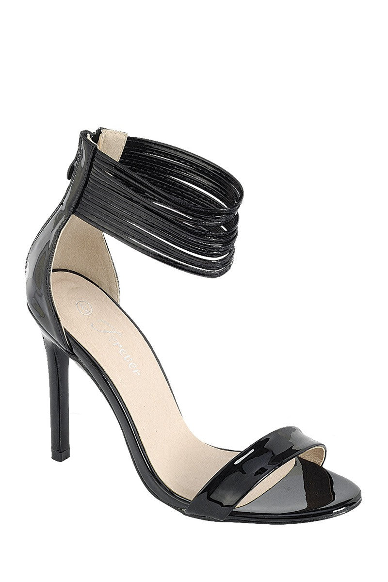 Ladies fashion simple, sophisticated and simply chic. high heel sandal, peep almond toe, stiletto heel, buckle closure - Happy-Go-Cart