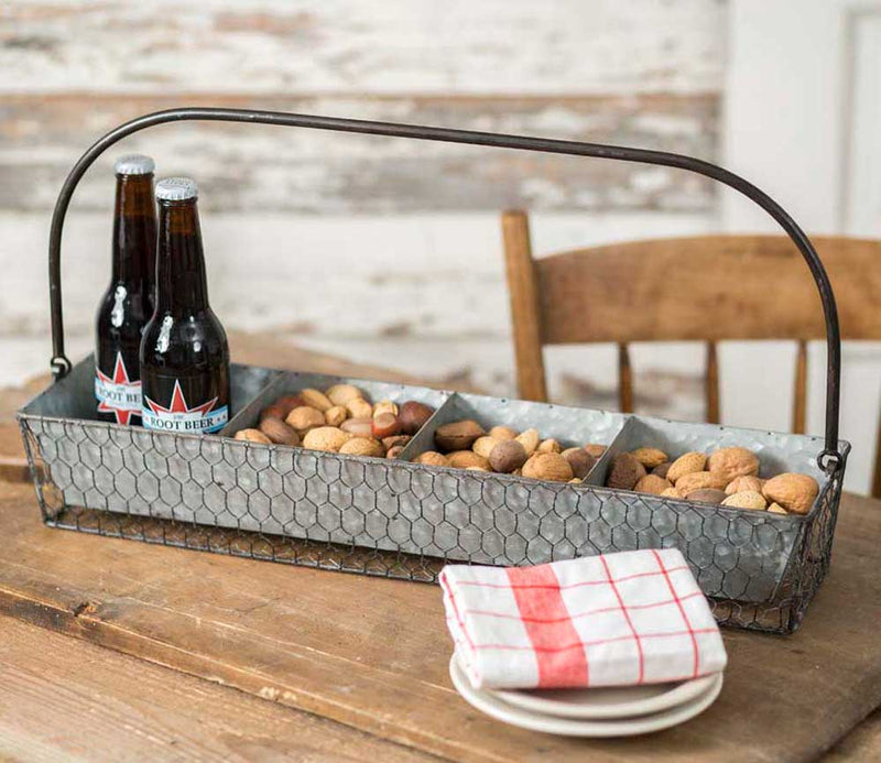 Chicken Wire Divided Tabletop Caddy