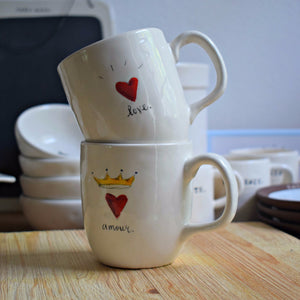 Love + Amour Mugs, Set of 2 - Happy-Go-Cart