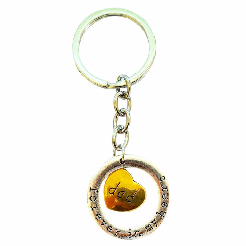 Father Forever In My Heart Key Chain - Happy-Go-Cart