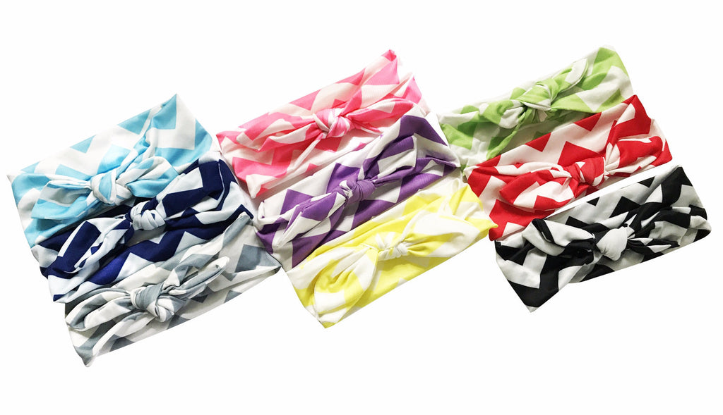 Chevron Bowknot Headbands - Happy-Go-Cart