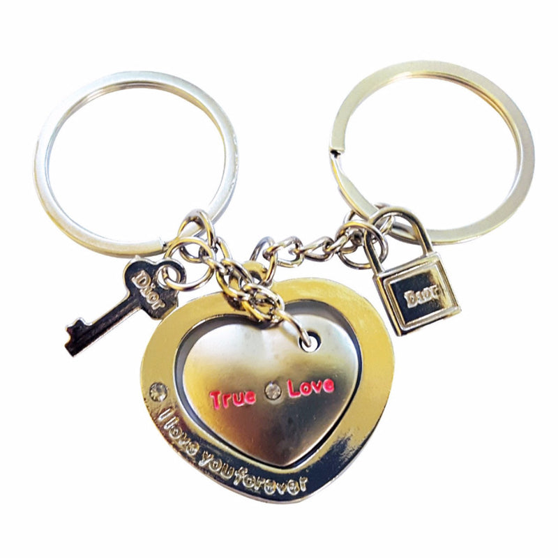 A Pair of Love Heart Couple Keychains set - Happy-Go-Cart