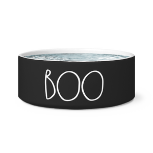 """BOO"" Farmhouse Large Letter Halloween DOG BOWL"