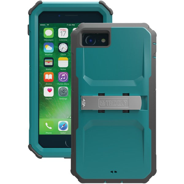 Trident(TM) Case KN-APIPH7-TL000 Kraken(R) A.M.S. Series Case with Holster for iPhone(R) 7 (Teal) - Happy-Go-Cart