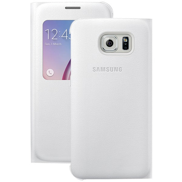 Samsung(R) 34-2886-05-XP S-View Flip Cover for Samsung(R) Galaxy S(R) 6 (White Pearl) - Happy-Go-Cart