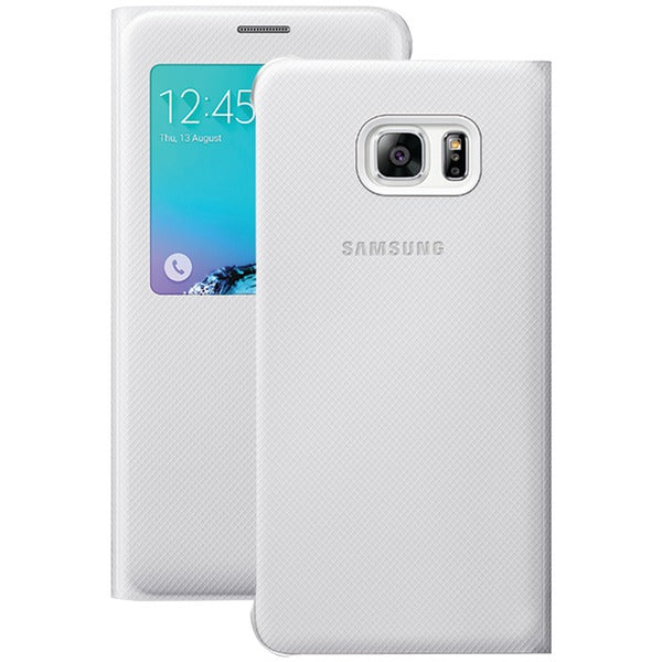 Samsung(R) 60-3515-05-XP S-View Flip Cover for Samsung(R) Galaxy S(R) 6 edge+ (White) - Happy-Go-Cart