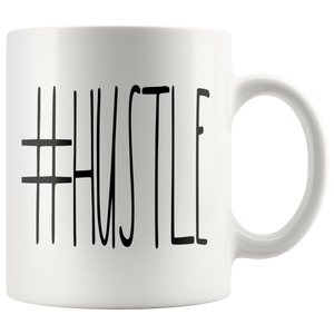 """#HUSTLE"" Farmhouse Large Letter Mug"