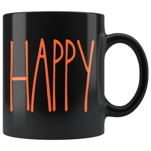 """HAPPY"" Farmhouse Large Letter Halloween Mug"