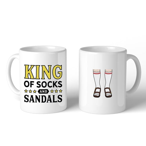 King Of Socks And Sandals Funny Design Mug Funny