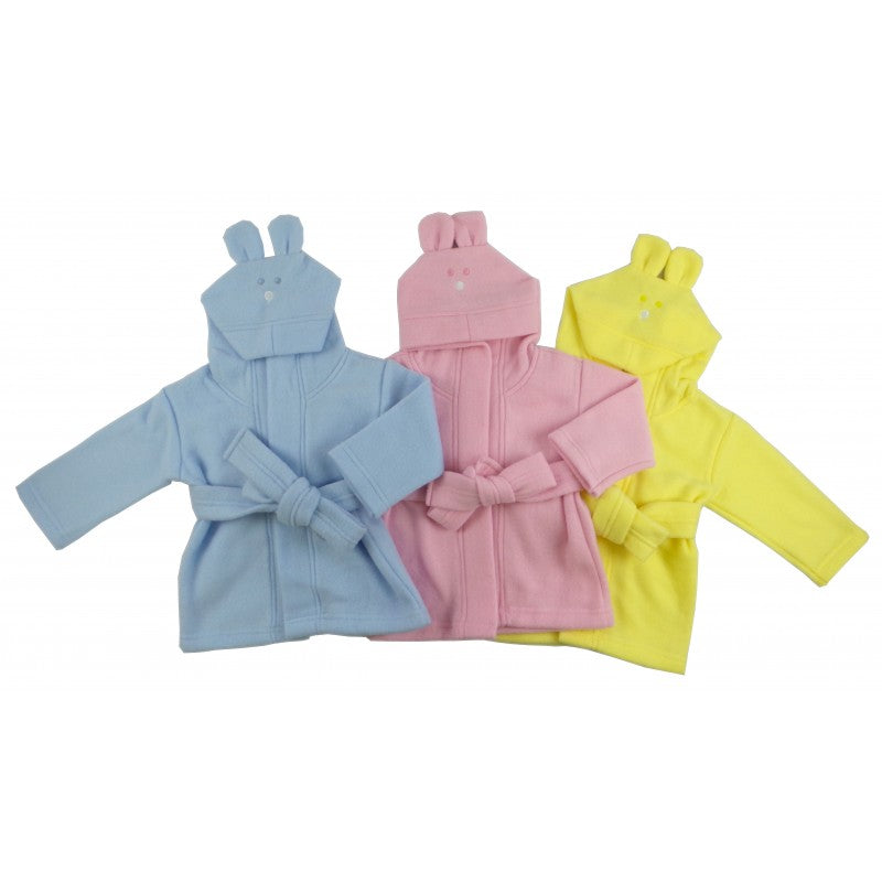 Fleece Robe Pastel with Rabbit Ears Hoodie - Happy-Go-Cart
