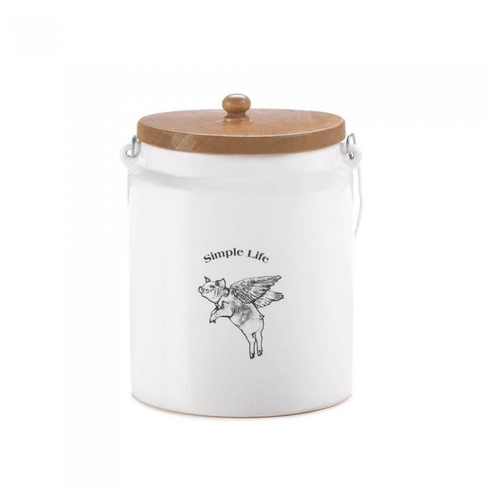 Flying Pig Large Canister - Happy-Go-Cart