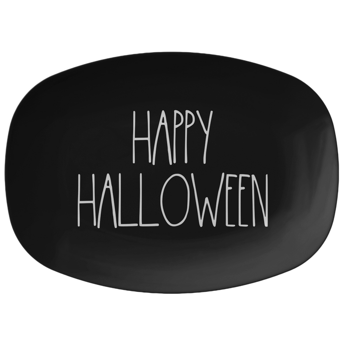"""HAPPY HALLOWEEN"" Farmhouse Large Letter Hallooween Serving Platter(White Font)"