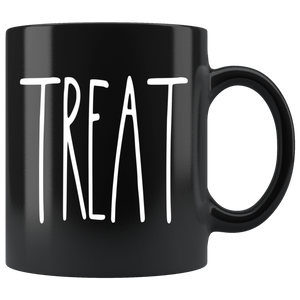 """TREAT"" Farmhouse Large Letter Halloween Mug"