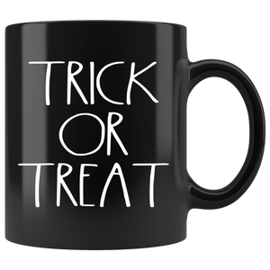 """TRICK OR TREAT"" Farmhouse Large Letter Halloween Mug (White Font)"