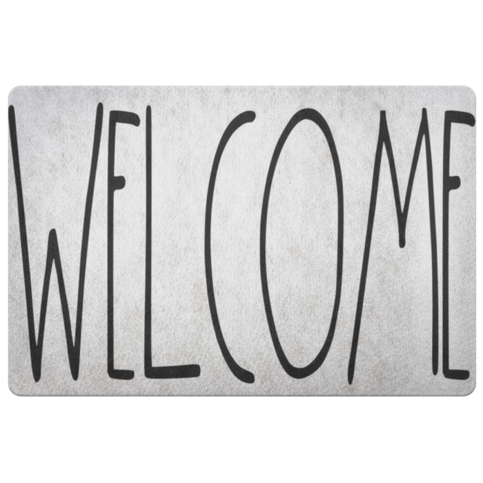 """WELCOME"" Farmhouse Large Letter Floor Mat"