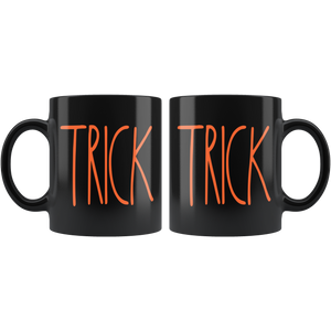 """TRICK"" Farmhouse Large Letter Halloween MUG"