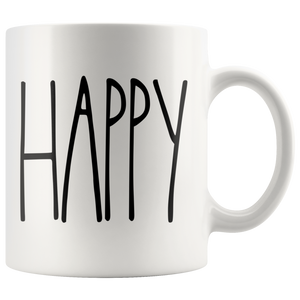 """Happy"" Farmhouse Large Letter Mug"