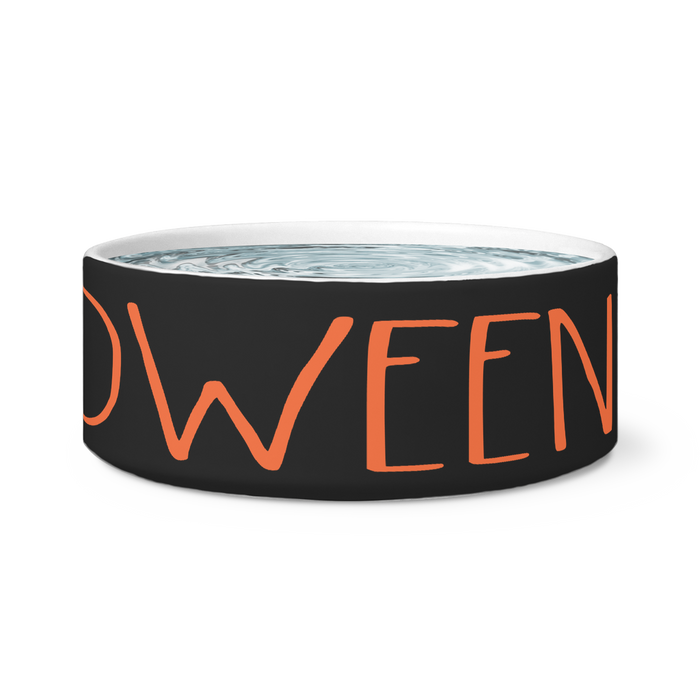 """HALLOWEEN"" Farmhouse Large Letter Hallooween Dog Bowl"